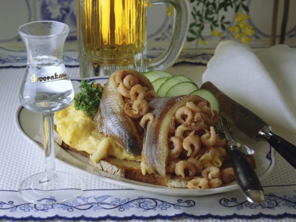 Matjes-Krabben-Rührei