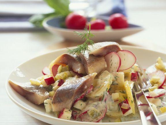Matjes mit Kartoffelsalat