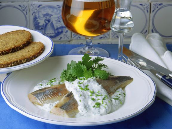 Matjes mit Kräuter-Joghurt-Schmand