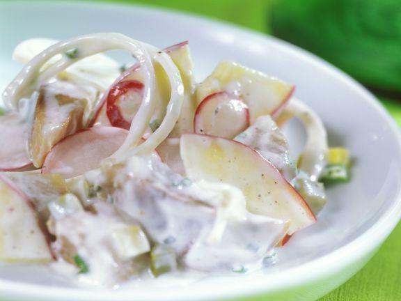 Matjes-Radieschensalat mit Apfel