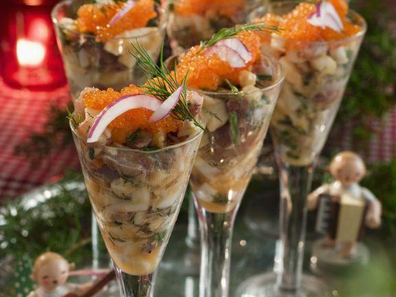 Matjesalat mit deutschem Kaviar