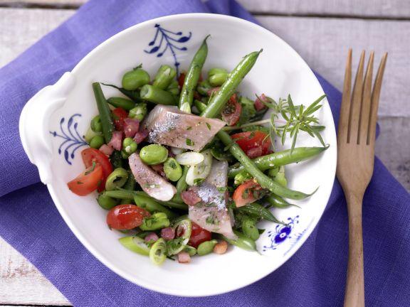Matjessalat mit Bohnen