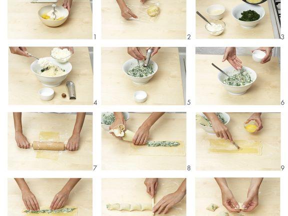 Maultaschen mit Ricotta-Spinat-Füllung
