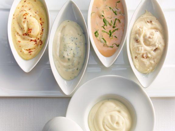 Mayonnaise mit Abwandlungen