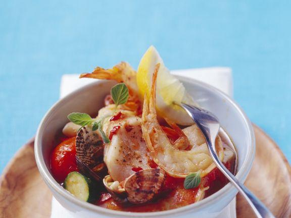 Meeresfrüchte-Fisch-Topf