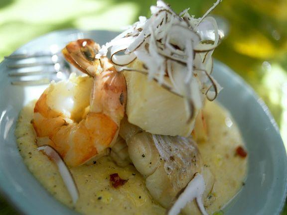 Meeresfrüchte-Kokosragout
