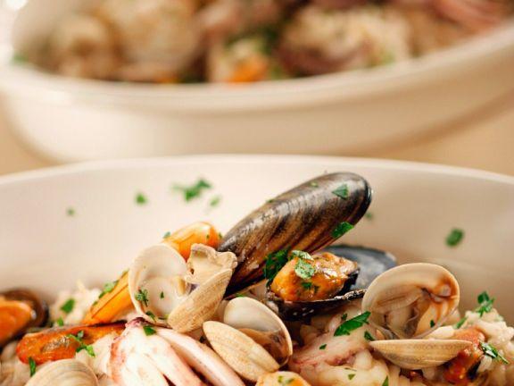 Meeresfrüchte-Risotto
