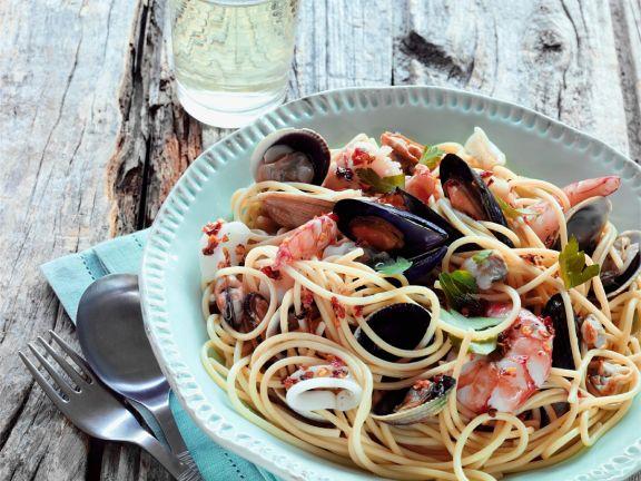 Meeresfrüchte-Spaghetti