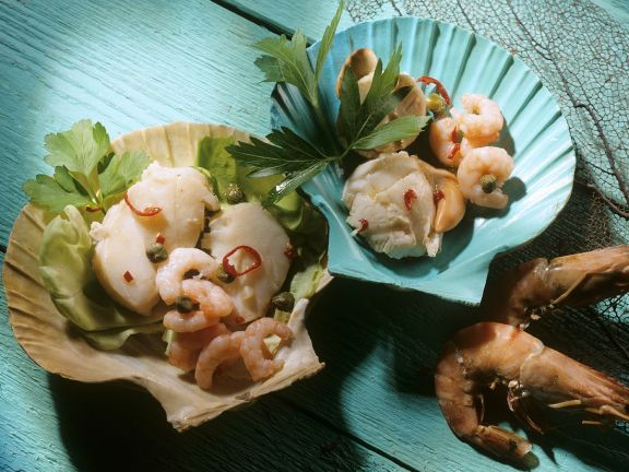 Meeresfrüchtesalat nach karibischer Art
