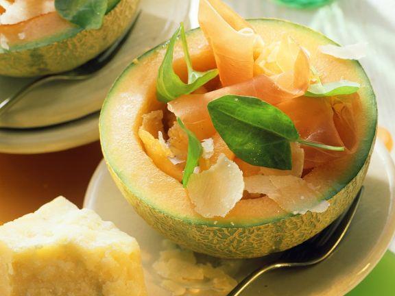 Melone mit Parmaschinken