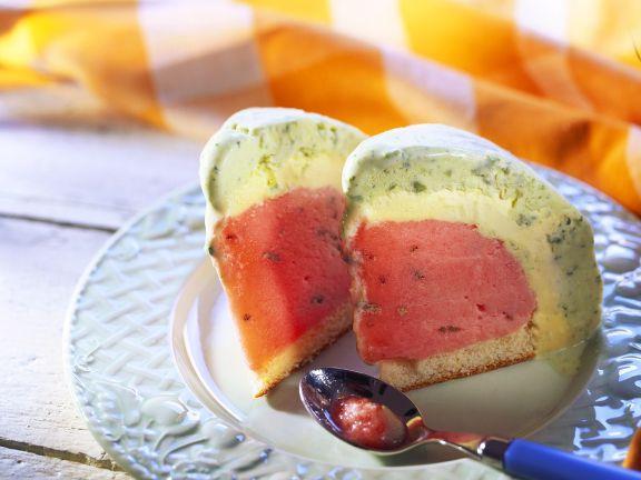 Melonen-Eistorte