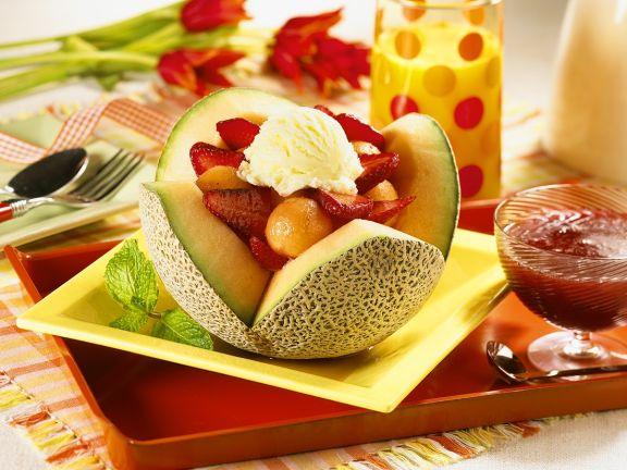 Melonen-Erdbeersalat
