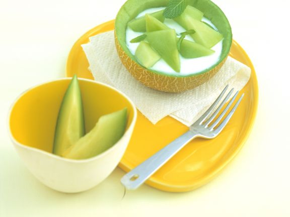 Melonen-Joghurt mit Honig