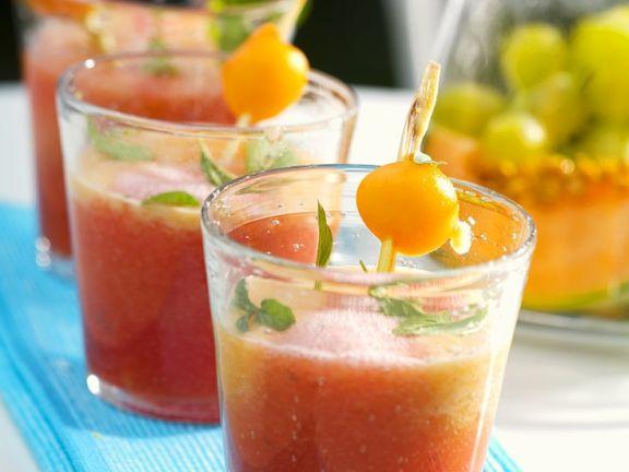 Melonen-Traubensuppe