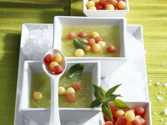 Melonenkaltschale mit Minze