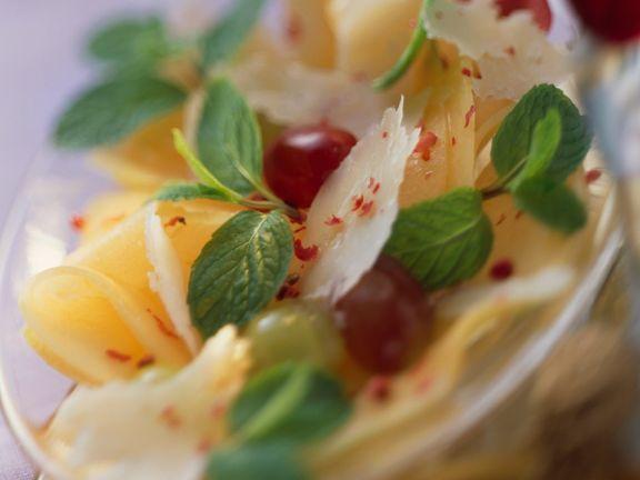 Melonensalat mit Käse