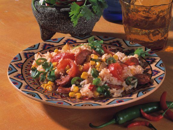 Mexikanische Reispfanne