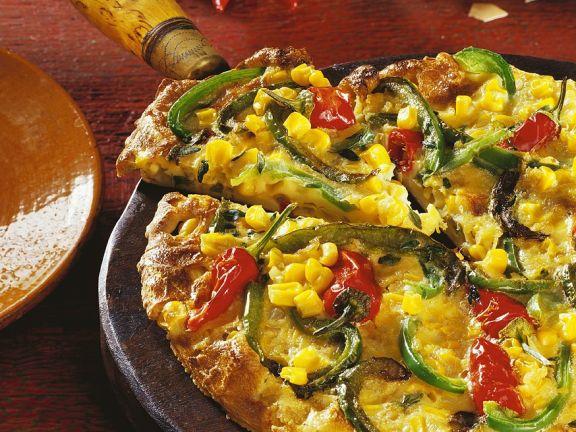 Mexikanische Tortilla mit Gemüse