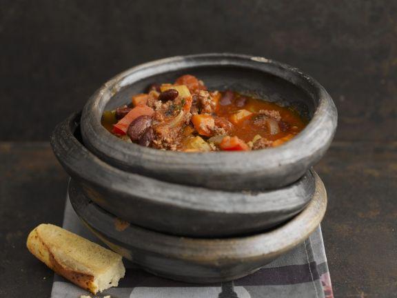 Mexikanischer Hackfleischeintopf (Chili con Carne)