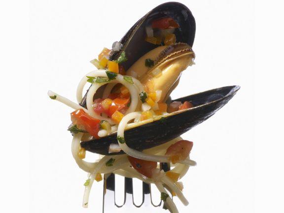 Miesmuschel-Pasta-Pfanne