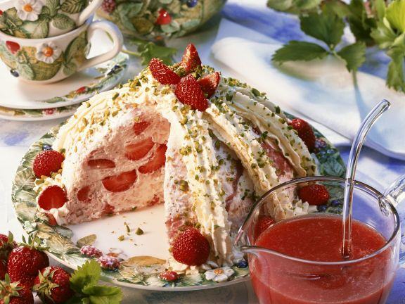Milchreis-Erdbeerbombe