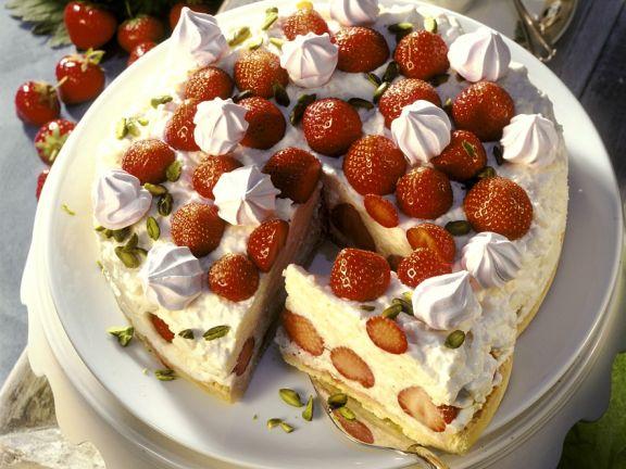 Milchreis-Erdbeertorte