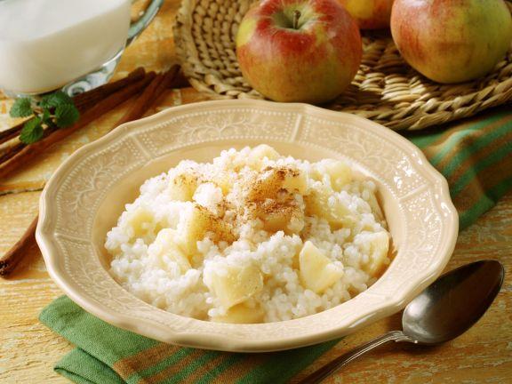 Milchreis mit Apfel