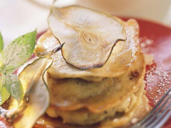 Mini-Pfannkuchen mit Birnen