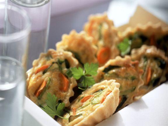 Mini-Quiches mit Gemüse