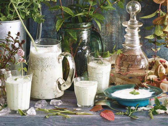 Minz-Joghurt-Drink