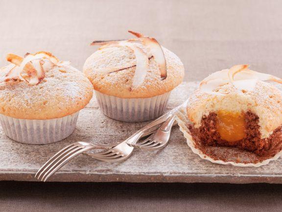 Mit Aprikose gefüllte Muffins