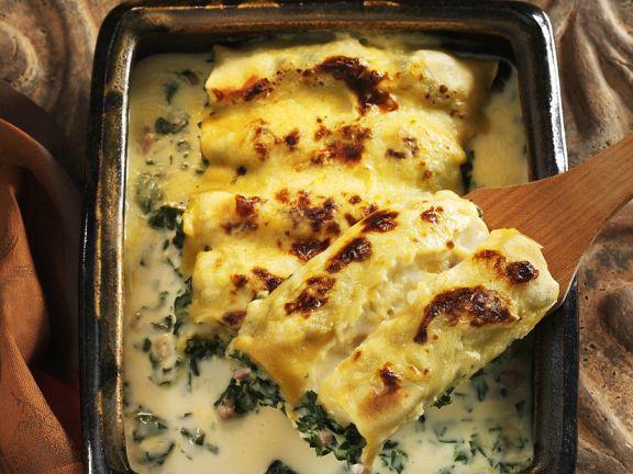 Mit Schnittkohl gefüllte Cannelloni