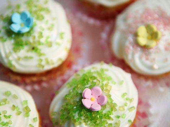 Möhren-Cupcakes mit Cremetopping