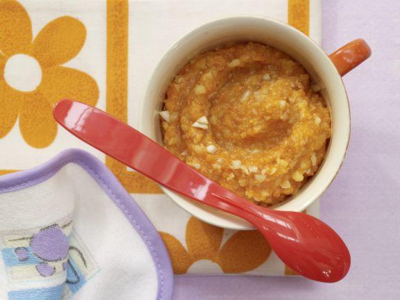 Möhren-Dinkel-Brei mit Mandeln