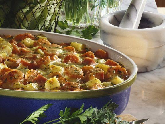 Möhren-Kartoffelgratin