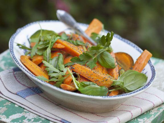 Möhren-Mohn-Salat