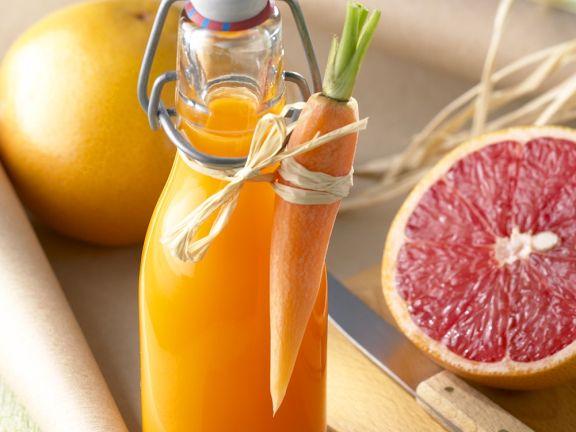 Möhren-Orangenaft