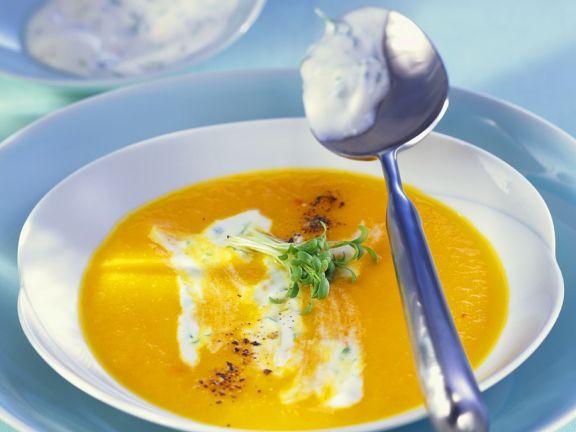 Möhren-Orangensuppe