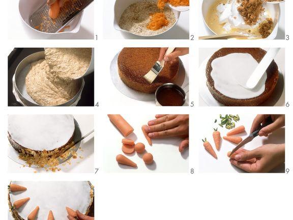 Möhrenkuchen mit Glasur