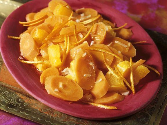 Möhrensalat mit Orangendressing