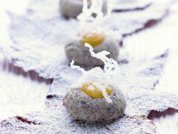 Mohnplätzchen mit Zitronencreme (Lemon Curd)