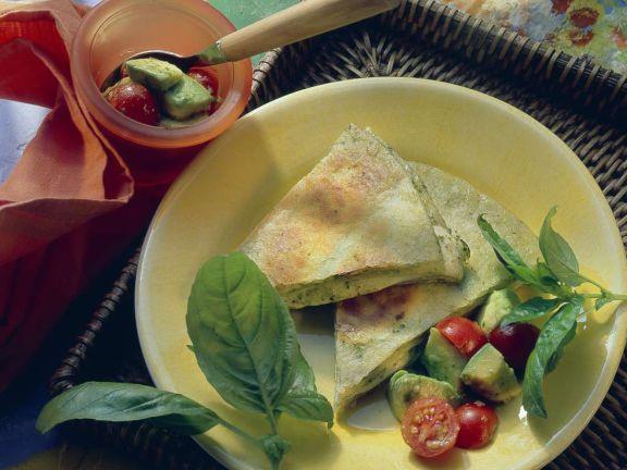 Mozzarella-Pesto-Tortillas