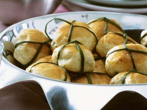 Mozzarella-Spinat-Taschen