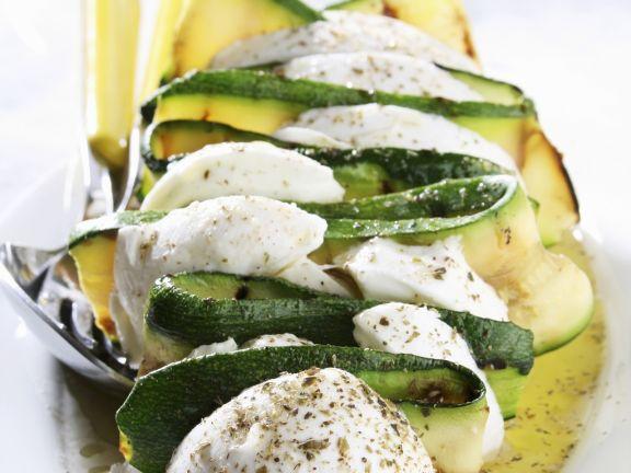 Mozzarella-Zucchini-Spieß