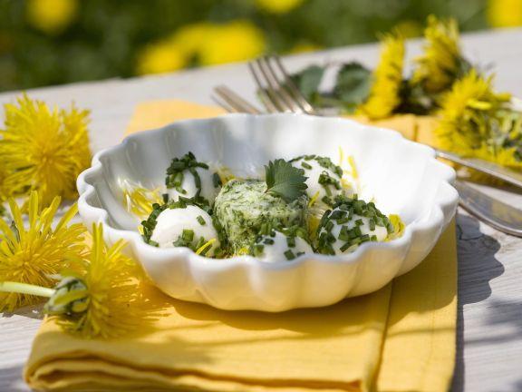 Mozzarellabällchen mit Kräutern