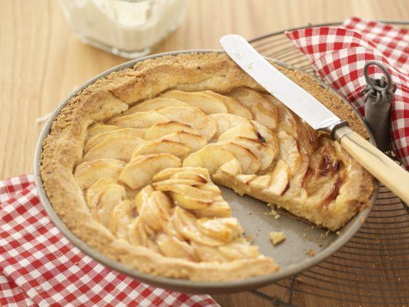 Mürbeteig-Apfelkuchen ohne Ei