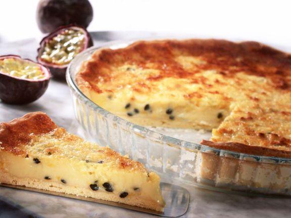 Mürbteig-Passionsfruchtkuchen