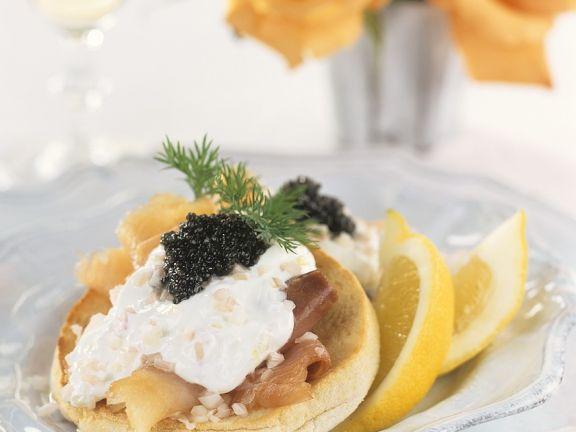 Muffin mit Räucherfisch