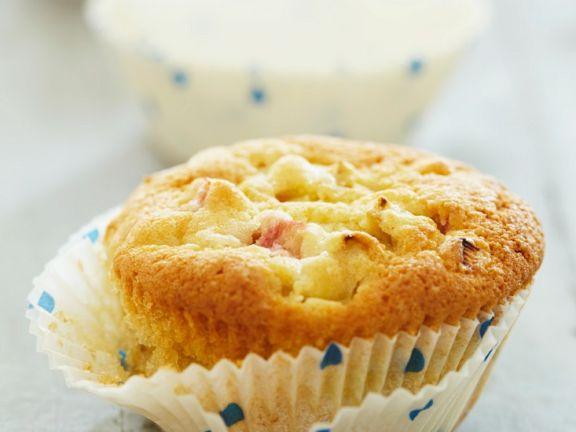 Muffin mit Rhabarber