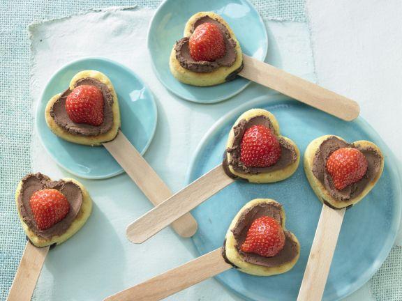 Muffin-Herzen mit Schokolade